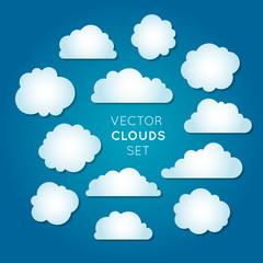 Vector clouds set 2