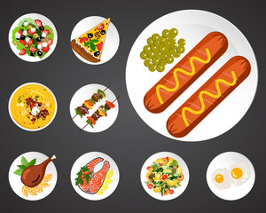 Food illustrations set