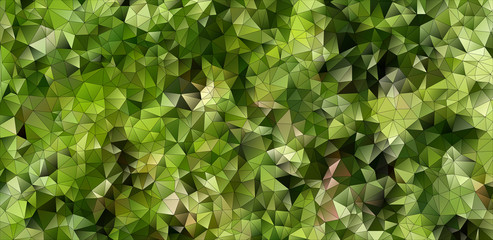 mosaic background of green gradient triangles