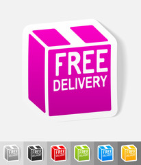 realistic design element. free delivery