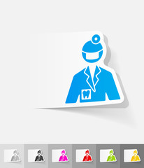 realistic design element. stomatologist