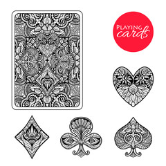 Decorative Card Suits Set