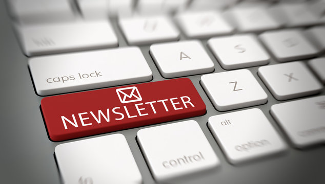 Online newsletter mail concept