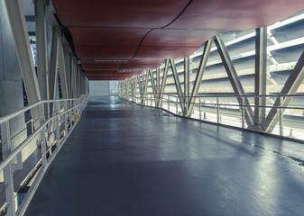 Empty corridor in the modern office building