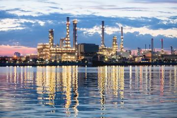 petrochemical industry night scene in Bangkok