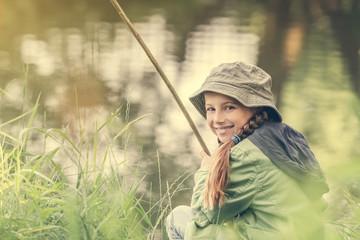 little fisher girl smiling