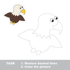 One cartoon eagle to be traced.