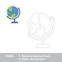 Find hidden globe restoring dashed line.