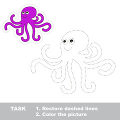 Cartoon octopus to be traced.