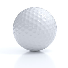 Isolated golf ball with clipping path