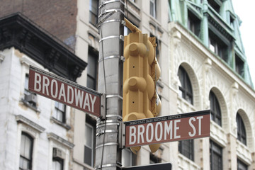 Broadway and Broome Street Signs Manhattan