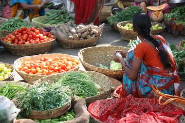 Jaipur, marché indien au Rajasthan, Inde