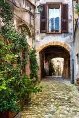 Colored corners in the picturesque Italian village