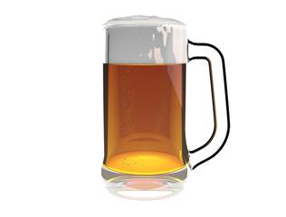 Beer mug isolated on a white background