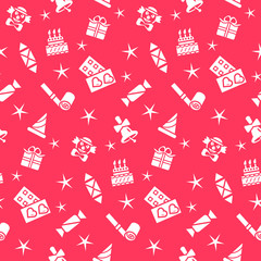 Holiday seamless pattern, vector  background