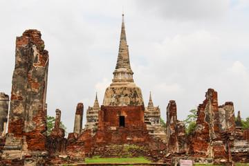 Landscape of Ayutthaya historical park in Thailand.