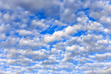 Stack of cloud on the blue sky
