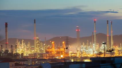 blure oil and refinery factory industry for background