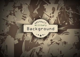 Brown camouflage military pattern background. Vector