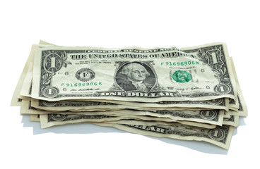 small stack of dollar bills