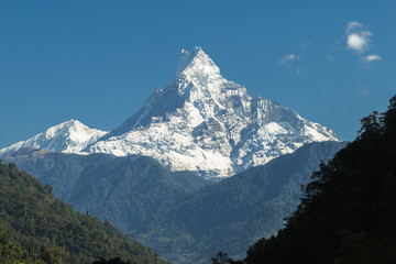 Machhapuchchhre mountain - Fish Tail in English is a mountain in the Annapurna Himal, Nepal