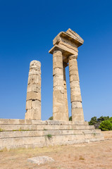 Ancient Apollo temple ruins on Rhodes