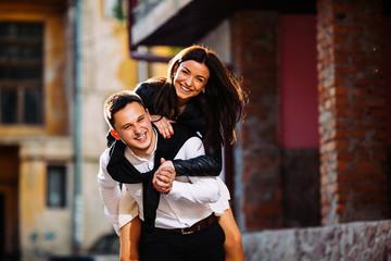 Couple haveing fun