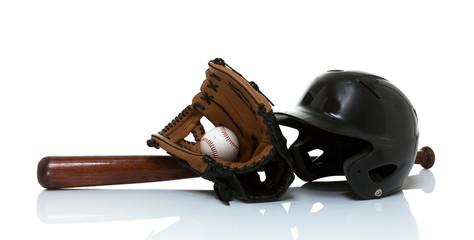 Baseball equipment isolated on white