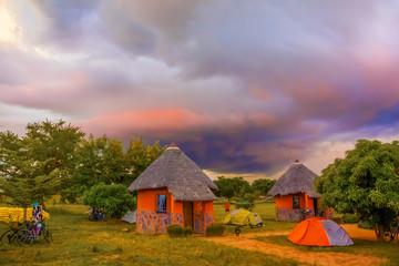 Sunset landscape in Zambia