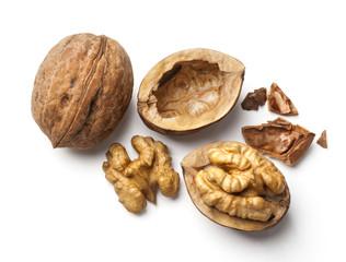 walnut and a cracked walnut