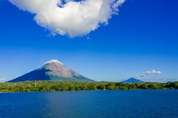 Tuinposter Donkerblauw Island Ometepe with vulcano in Nicaragua