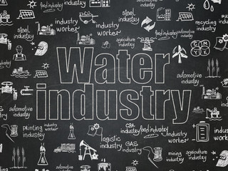 Industry concept: Water Industry on School Board background