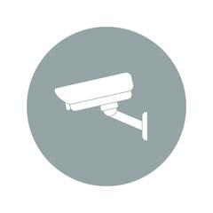 vector illustration silhouette of surveillance cameras.