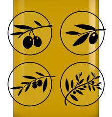Set of olive icons.