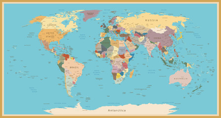 Foto auf AluDibond Ikea VINTAGE WORLD MAP