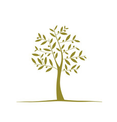 Olive tree icon on white background. Vector element
