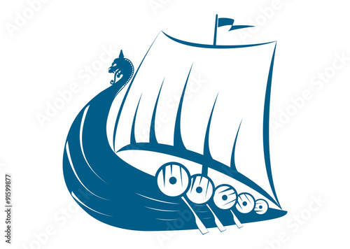 viking ship illustration stock image and royalty free vector files rh us fotolia com  viking ship logo free