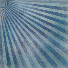 abstract faded retro background, blue and white distressed vintage sunburst design pattern of stripes or lines radiating from corner, grunge background texture