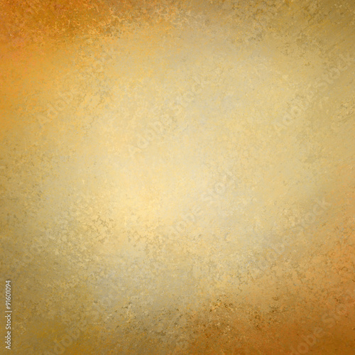 Elegant Gold Background Texture Paper Faint Rustic Grunge Border Paint Design Old Distressed