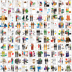 Flat People - Different Occupation Set. Collection Of Colorful Icons