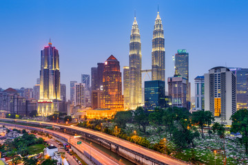 Aluminium Prints Kuala Lumpur Kuala Lumpur Skyline