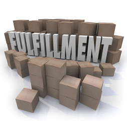 Fulfillment Cardboard Boxes Shipping Orders Warehouse Shipments