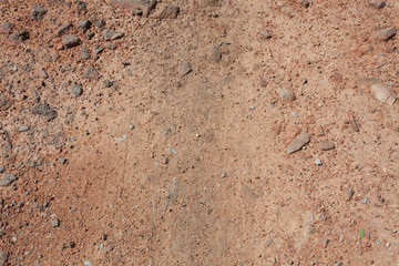 Photo Red Dirt soil Background Or Texture