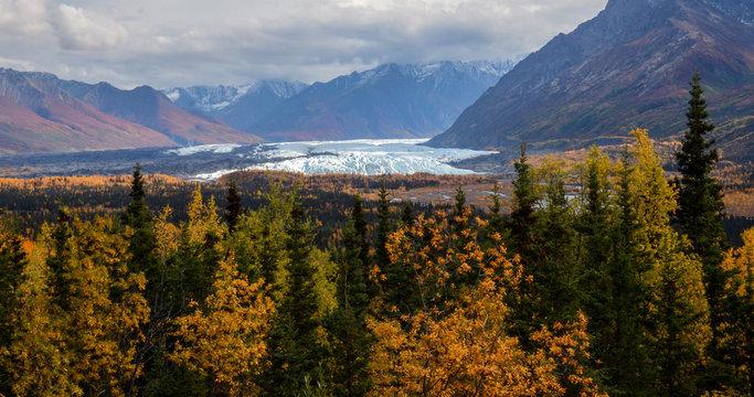 Matanuska Glacier on a fall day in September