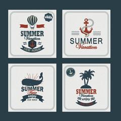 Summer cards set
