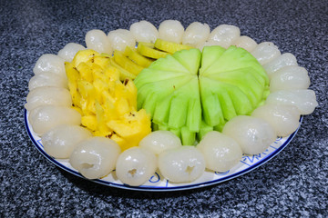 A fruit plate