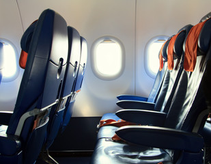 Chairs in the airplane