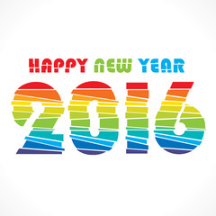 creative colorful random paper strip design new year 2016 greeting vector
