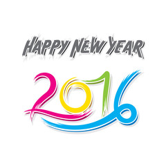 creative happy new year 2016 greeting design vector