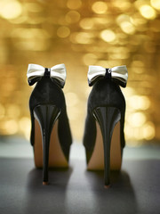 Luxurious black high heels